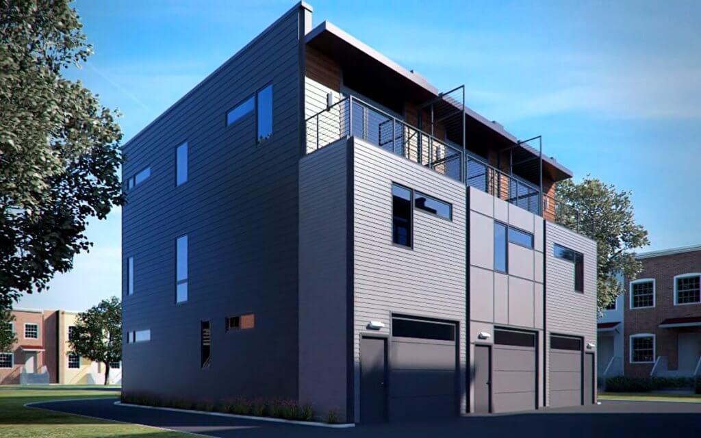 A2 RVA | Rear View Deck Garage